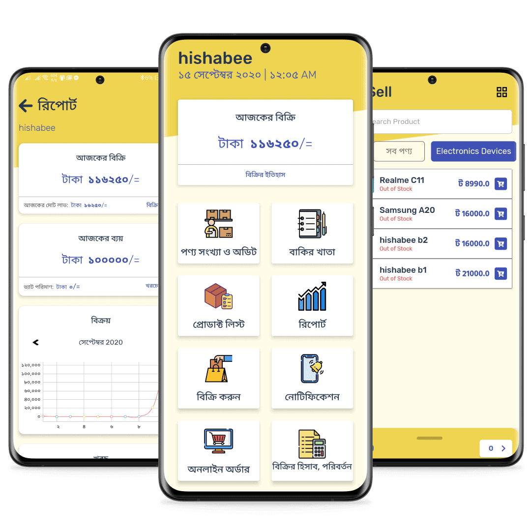 HishaBee Business Manager Screen Carousel
